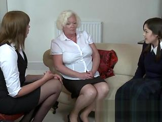 schoolgirl disciplined and Mother spanked also