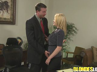 Blondes Love Dick - Secretary Codi Carmichael Gets Railed By Her Boss