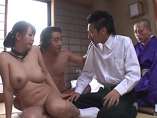Japanese wife Kano Waka gets her pussy poked with toys and dicks