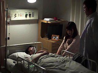 Cuckolding Japanese milf with big boobs loves hardcore sex