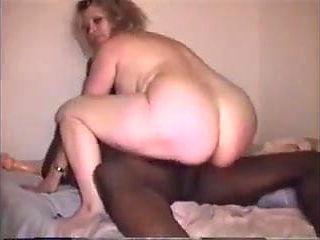 Wife riding black cock