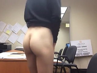 Girl office worker secret masturbation