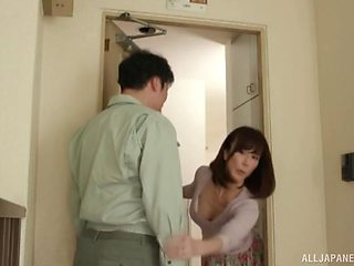 Mature Asian wife loves to get fucked by her neighbor while home alone