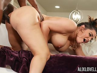 Chubby housewife Alix Lovell gets fucked by a large black dick