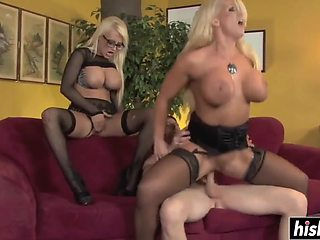 Alura Jenson And Jacky Joy In Blonde Play With His Dick