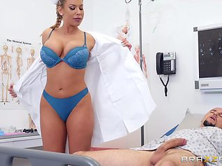 J Mac And Olivia Austin In Busty Nurse Pleases Patient Right On The Hospital Bed