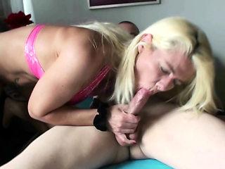 GERMAN MILF TEACH STEP-SON to Fuck and let him cum Inside