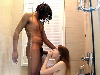 Black Dude Fucks His Friend At The Shower