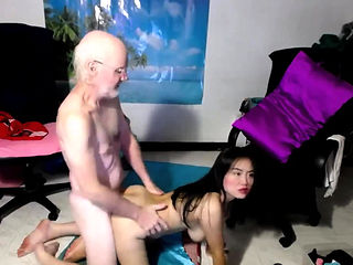 Old Man Pound His Cock On Her Chinese Partner