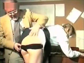 Two naughty schoolgirls spanked