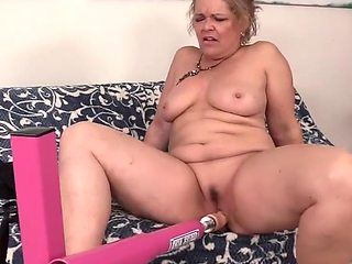Horny older women get their aged pussies stretched wide and hard by dildos