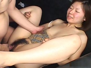 Blowjob close up of a hairy pussy whore