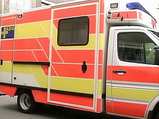 Young nurse getting fucked in ambulance car