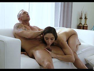 Sexy kept woman Abella Danger gets intimate with elder sugar daddy