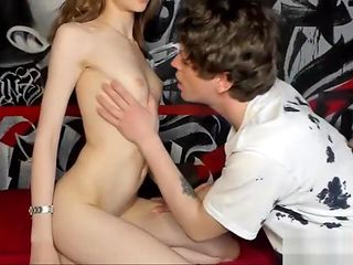 Horny skinny teen gets pounded and creampied live at sexycamx