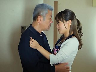 Adorable Asian brunette is fucking her boyfriends father while they are alone at home and horny