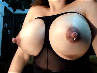 Huge Latina ass spread and squirt pussy, lactate breast milk