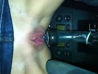 Riding the stick in the parked car