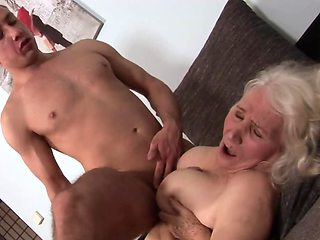 Old granny still knows how to handle massive cock