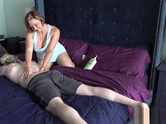 The Step Mom Son Massage Routine