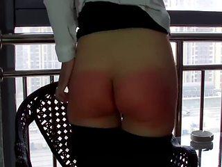 Chinese girl spanking