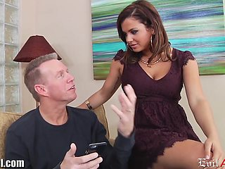 Curvy babe Keisha Grey loves to fuck older men and she is a true anal slut