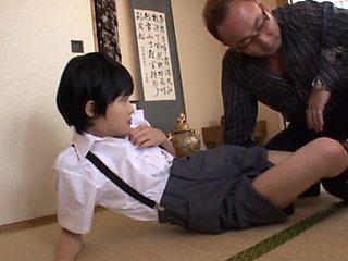 Naughty schoolgirls Naho Hazuki hot friend in threesome