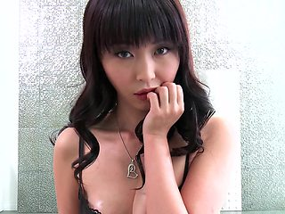 Sweet looking Japanese porn bitch gets a huge dick in her twat