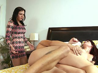 Slutty mom is ready to take a huge cock in her tight asshole