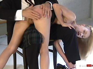 Fun naughty schoolgirl photoshoot