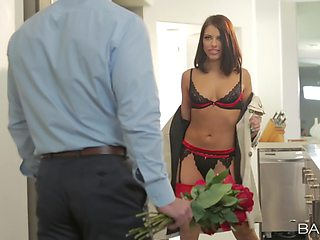 Lingerie diva teases man in perfect scenes before getting laid