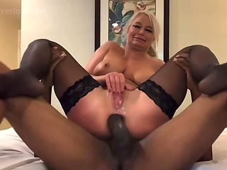 Mrs. river takes a monster in the ass
