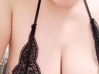 Busty big tits young woman seduce man live
