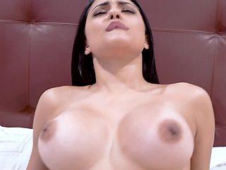 Stunning Latina chick looks amazing in POV hardcore scene