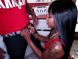 What can be better for Ebony pussy than huge black cock
