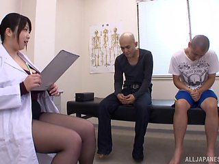 Big boobs Japanese Shizuku Amayoshi and two amateur dudes. HD
