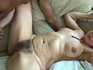 Amateur hairy mature fucked again
