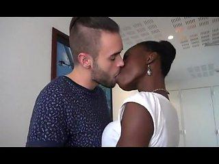 Hot interracial couple having a nice fuck time