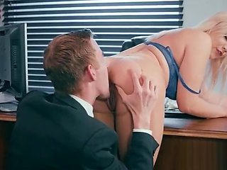 Slut Girl (Kylie Page) With Round Huge Tits Get Nailed In Office vid-13