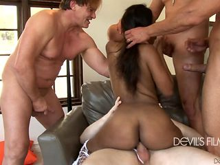 Evan Stone uses his thick man meat to make blowjob addict Black happy