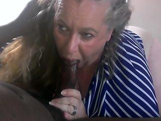 Granny Gives Bbc Blowjob