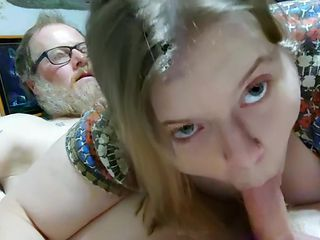 Mrs Kitty sucking, getting fucked and and enjoying the ride.