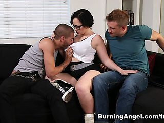 Xander Corvus & Bill Bailey & Axis Evol in Axis and Her Epic Mounts Scene