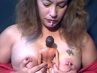 Giantess dominates tiny man - mouth, vore, spit, piss, human dildo