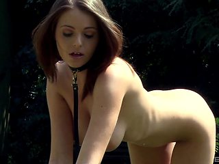 Collection of porn videos with nude female slaves tied up in outdoors