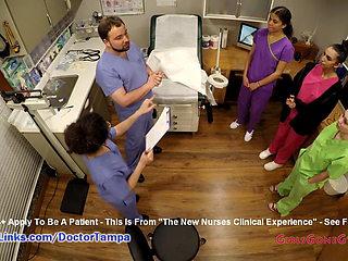 Nurse Lenna Lux, Angelica Cruz & Reins Give Each Other Exams