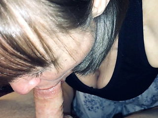 SweetMarie420 doing what I love to do most! Sucking it dry!