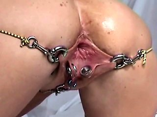 Horny amateur bondage fetishist gets her fiery holes pleased