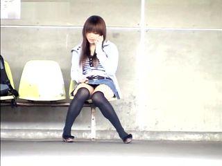 Yuzuki Hatano nice teen in a short skirt is an exhibitionist