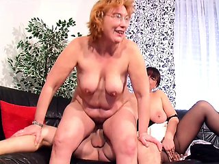 Real German old Couple First Threesome Sex with Mature
